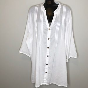 SWIMSUITS FOR ALL white cotton lace coverup 30
